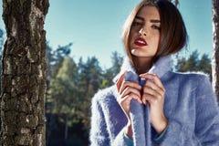 Donkerbruin sexy perfect het gezichtslichaam van de schoonheids yang vrouw Stock Foto's