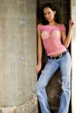 Donkerbruine mannequin Stock Foto's