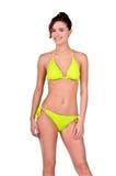 Donkerbruine Vrouw in een Bikini royalty-vrije stock afbeelding