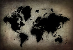 Donkere aarde Stock Foto