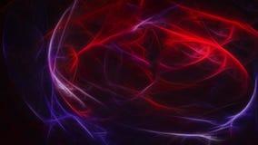 Donkere abstracte achtergrond met gloeiende blauwe en rode energie Stock Fotografie