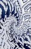 Donkere achtergrond De beelden divergeren in een spiraal van het midden aan de randen royalty-vrije illustratie