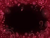 Donkere achtergrond - frame met borduurwerk Royalty-vrije Stock Fotografie