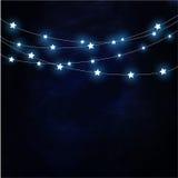 Donkere achtergrond met het hangen sterrenvector Royalty-vrije Stock Afbeelding