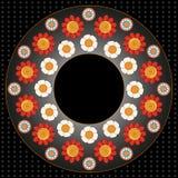 Donkere achtergrond met kleurrijke bloemen Royalty-vrije Illustratie