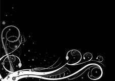 Donkere achtergrond - patronen royalty-vrije illustratie