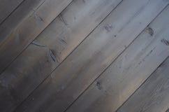 Donkere achtergrond van de diagonaal van de oude pijnboomplanken Stock Foto