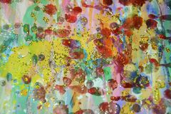 Donkere achtergrond van pastelkleur de wasachtige vlekken, verftextuur Royalty-vrije Stock Fotografie