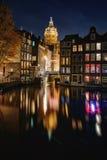 Donkere avond in Amsterdam Royalty-vrije Stock Fotografie