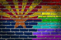 Donkere bakstenen muur - LGBT-rechten - Arizona Royalty-vrije Stock Afbeeldingen