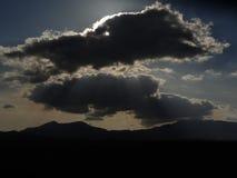 Donkere bewolkte hemel Royalty-vrije Stock Foto