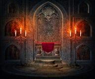 Donkere Binnenlandse Gotische Achtergrond Stock Fotografie