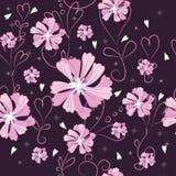 Donkere bloemen Stock Afbeeldingen