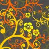 Donkere bloemenachtergrond vector illustratie