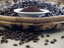Donkere braadstukkoffie Stock Afbeelding