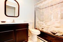 Donkere bruine badkamers Royalty-vrije Stock Foto