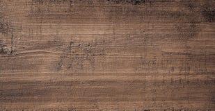 Donkere bruine gekraste houten scherpe raad Houten Textuur Royalty-vrije Stock Afbeeldingen