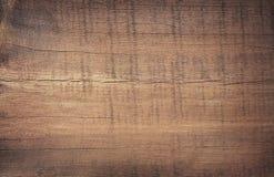 Donkere bruine gekraste houten scherpe raad Houten Textuur Stock Foto