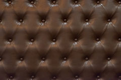 Donkere bruine het patroon retro stijl van de leerzetel Royalty-vrije Stock Fotografie