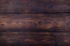 Donkere bruine houten achtergrond met hoge resolutie De hoogste ruimte van het meningsexemplaar Royalty-vrije Stock Foto