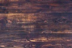 Donkere bruine houten achtergrond met hoge resolutie De hoogste ruimte van het meningsexemplaar Stock Afbeeldingen