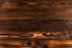 Donkere bruine houten achtergrond met hoge resolutie Hoogste mening royalty-vrije stock foto's