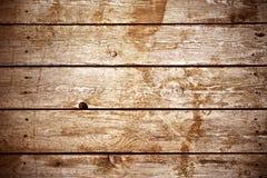 Donkere bruine houten achtergrond van oude raad Royalty-vrije Stock Afbeeldingen