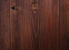 Donkere bruine houten deurtextuur Royalty-vrije Stock Foto's