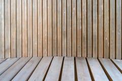 Donkere bruine houten het patroonachtergrond van de muurtextuur Royalty-vrije Stock Afbeelding