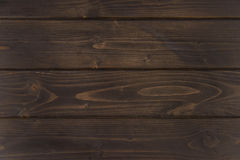 Donkere bruine houten horizontale planken, houten achtergrond Stock Foto's