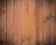 Donkere bruine houten muur, planken Vloeroppervlakte Stock Afbeeldingen