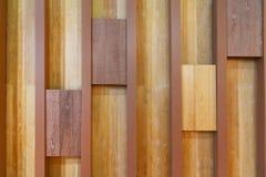 Donkere Bruine houten muurtextuur Stock Afbeelding