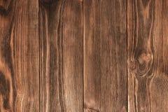 Donkere bruine houten textuur De houten achtergrond van de Lijst Royalty-vrije Stock Foto's