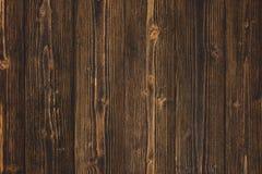 Donkere bruine houten textuur met natuurlijke gestreepte patroonachtergrond Stock Foto
