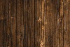 Donkere bruine houten textuur met natuurlijke gestreepte patroonachtergrond Royalty-vrije Stock Foto's