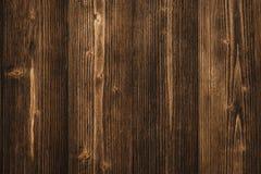 Donkere bruine houten textuur met natuurlijke gestreepte patroonachtergrond Royalty-vrije Stock Afbeelding