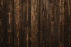 Donkere bruine houten textuur met natuurlijke gestreepte patroonachtergrond Royalty-vrije Stock Afbeeldingen