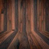 Donkere bruine houten textuurachtergrond Royalty-vrije Stock Afbeeldingen