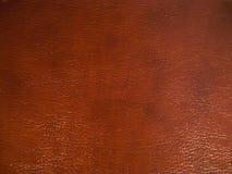 Donkere bruine leertextuur als achtergrond Royalty-vrije Stock Foto