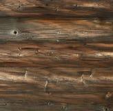 Donkere bruine oude uitstekende houten plankenachtergrond Royalty-vrije Stock Foto