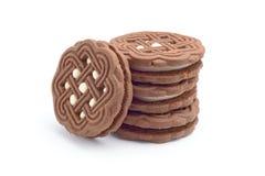 Donkere cacaokoekjes Stock Foto