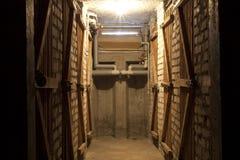 Donkere cementkelderverdieping Royalty-vrije Stock Afbeeldingen
