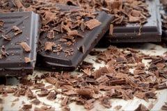 Donkere chocolade Royalty-vrije Stock Foto