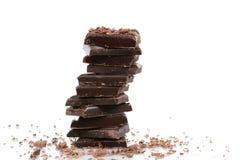 Donkere chocolade Royalty-vrije Stock Afbeeldingen