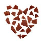 Donkere chocolade in de vorm van een hart Royalty-vrije Stock Afbeelding