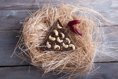 Donkere chocolade met Cayennepeper en cachou Royalty-vrije Stock Afbeeldingen