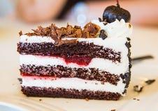 Donkere chocoladecake Royalty-vrije Stock Foto's