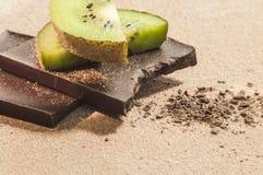 Donkere chocoladehemel Stock Afbeeldingen