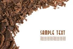 Donkere chocoladespaanders Stock Fotografie
