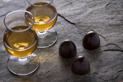 Donkere chocoladetruffels Royalty-vrije Stock Afbeelding